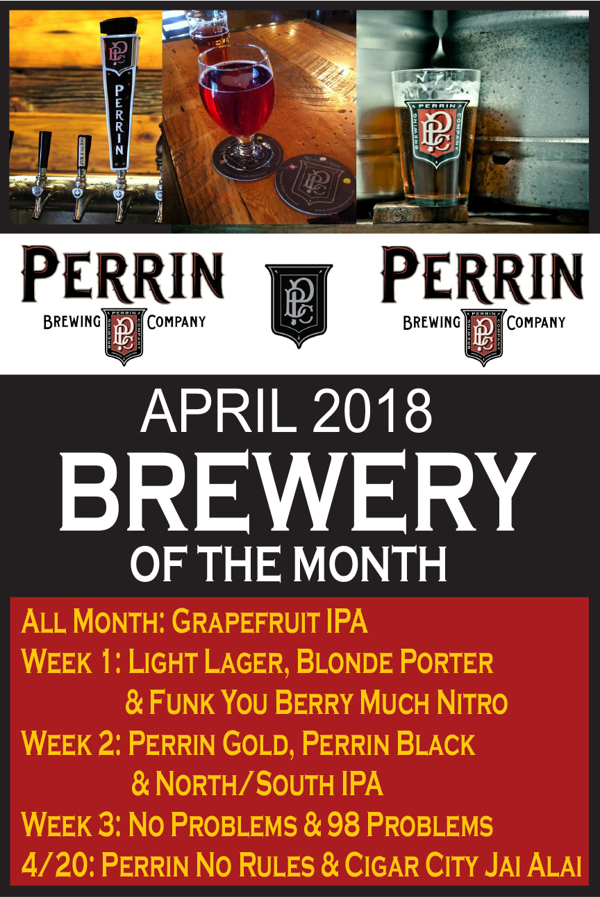 April 2018 Brewery of the Month: Perrin