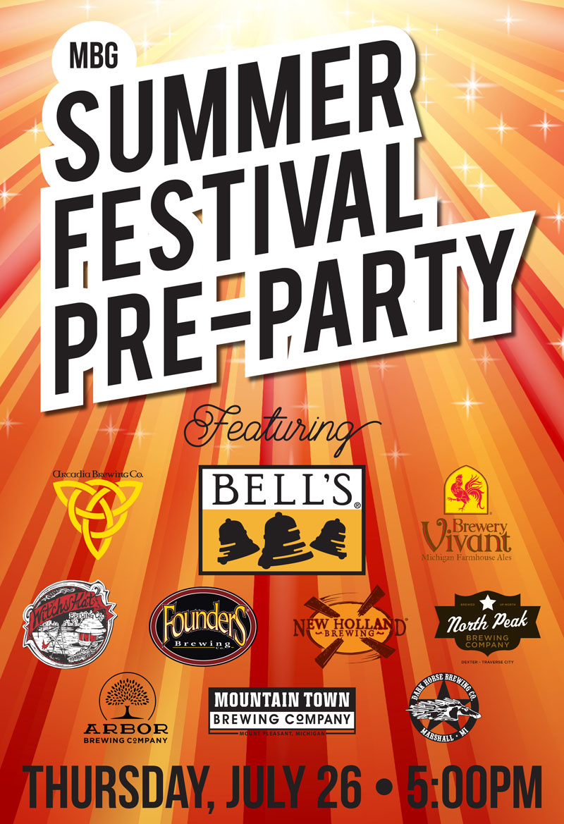 Michigan Brewers Guild Summer Festival Pre-Party