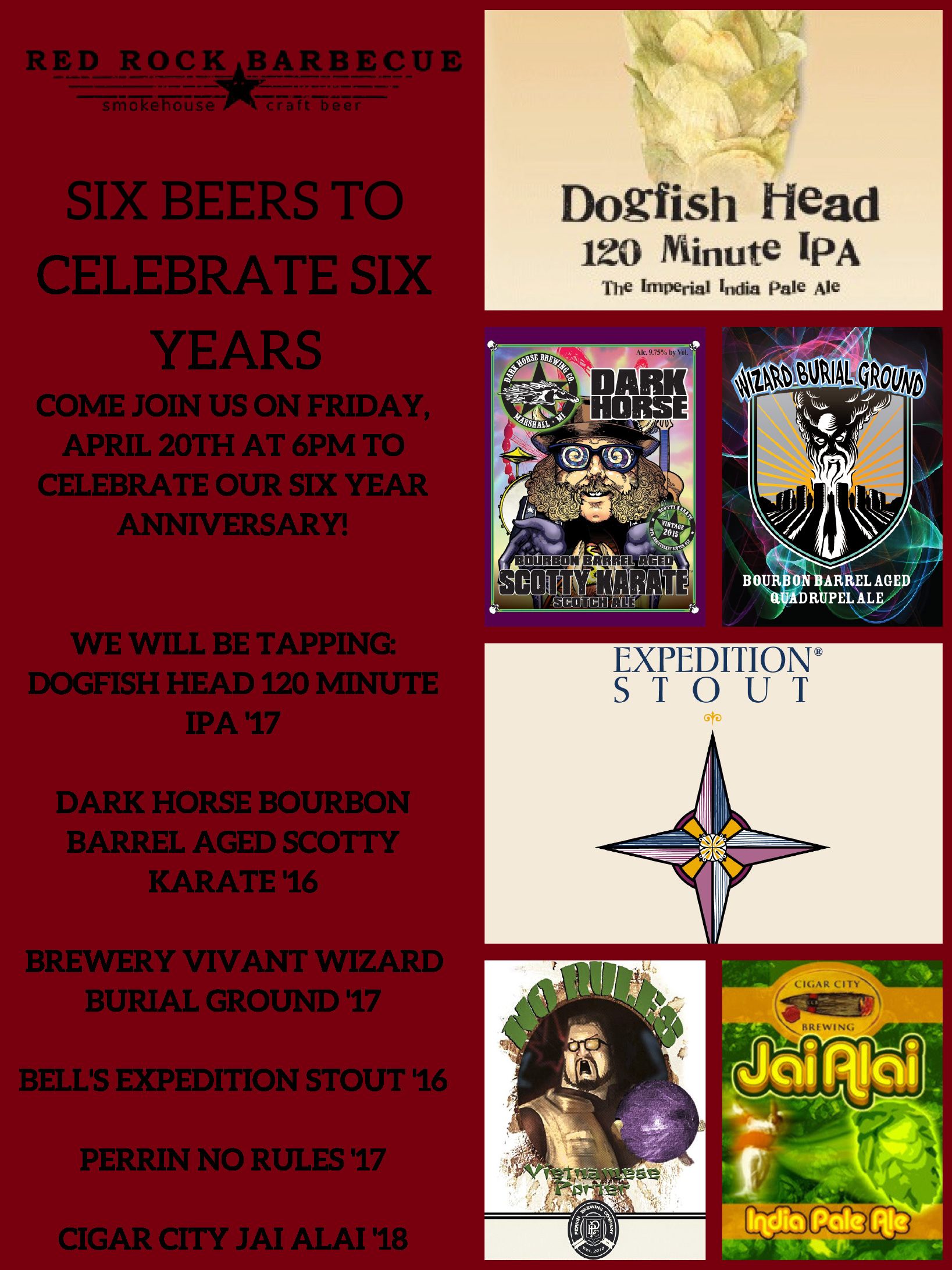 Six Beers to Celebrate Six Years